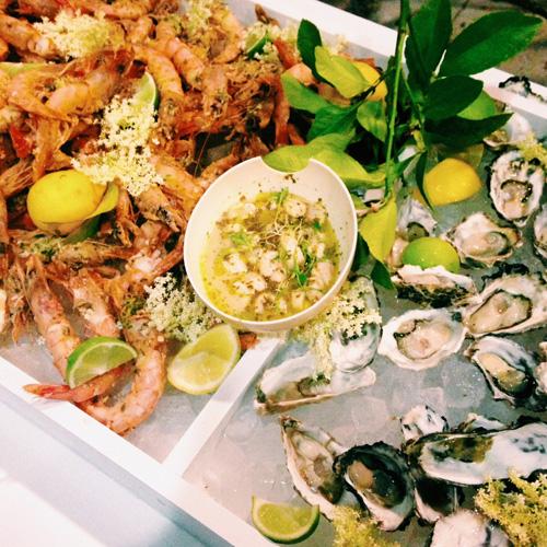 Seafood at Marije Vogelzang's Secret Dinner